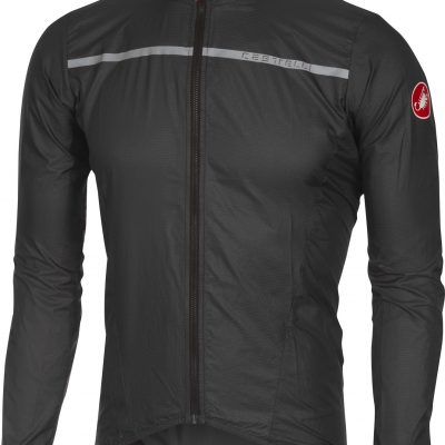 Castelli kurtka kolarska męska Superleggera Jacket anthracite/yellow L
