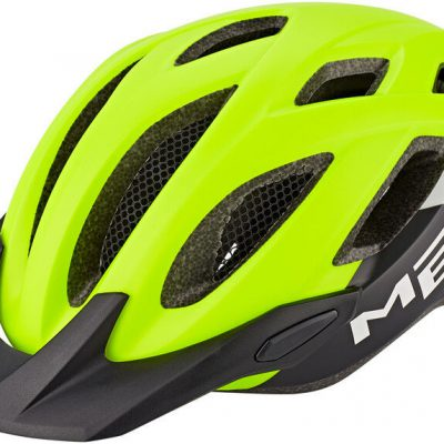 MET Crossover Kask rowerowy, safety yellow/white/black Unisize 52-59cm 2020 Kaski MTB